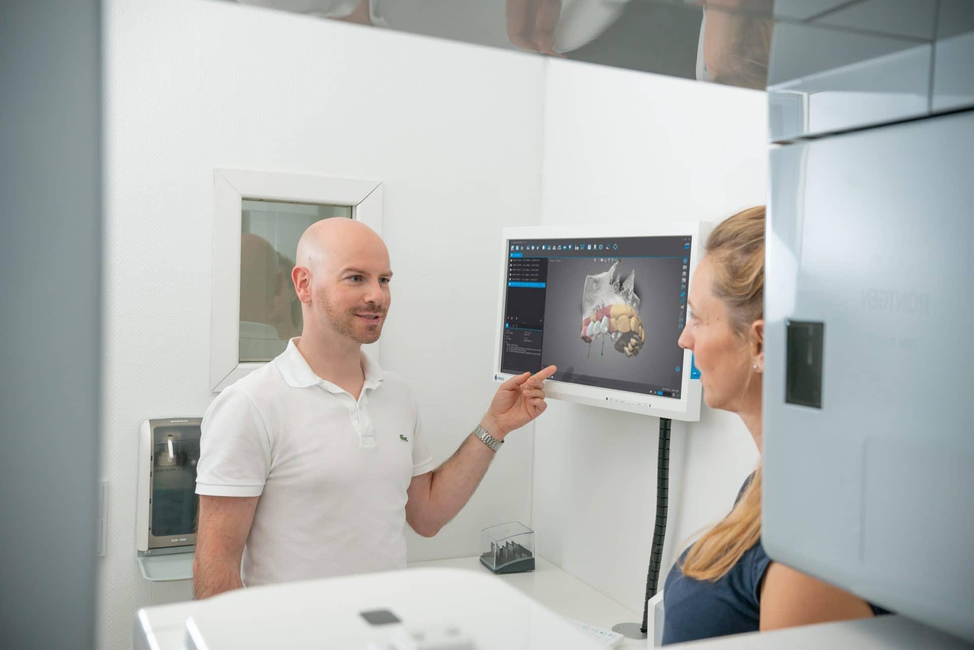 Bild: Zur Unterstützung der Zahnbehandlung nutzen wir digitale 3D-Scans