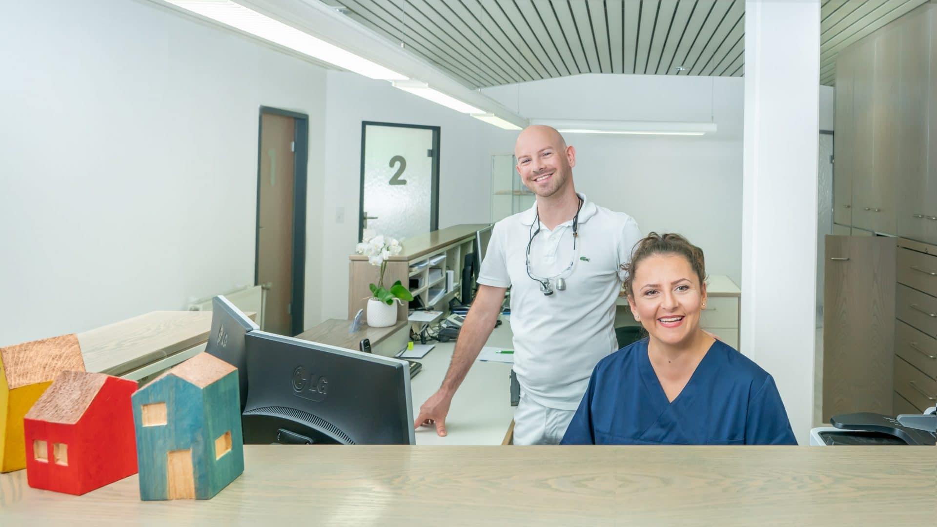 Bild: Wir heißen Sie herzlich willkommen in der Zahnarztpraxis Bierbaum & Kollegen